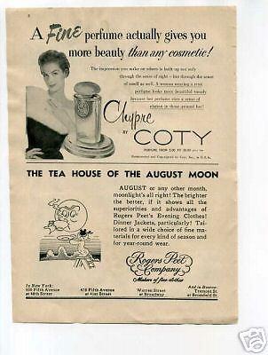 Coty-Chypre-Perfume-Ad-1954-Original-Vintage-Ad